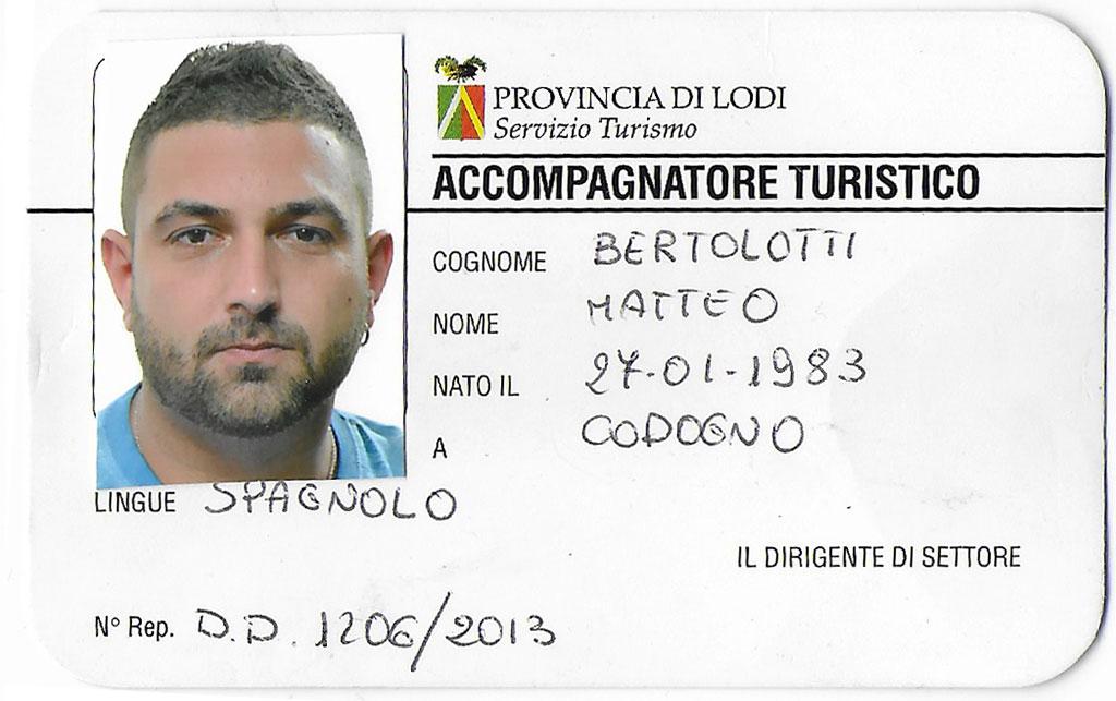 Bertolotti Matteo - Accompagnatore Turistico - Despacito Tour